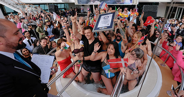Backstreet Boys Most nationalities in a Jacuzzi adjudicator