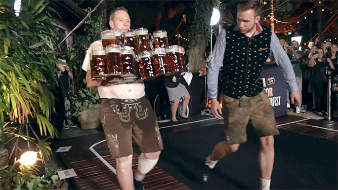 Most beer steins carried over 40 metres
