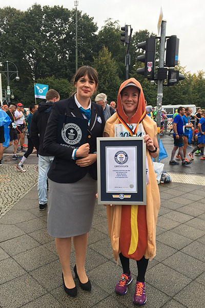 Fastest marathon dressed as fast food