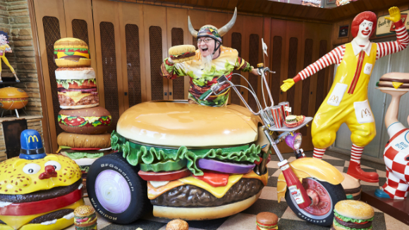 Largest collection of hamburger items 4