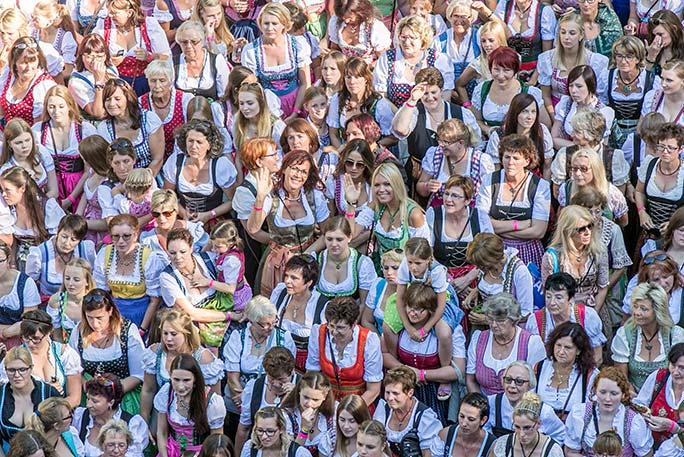 Largest gathering of people dressed in Tracht dresses