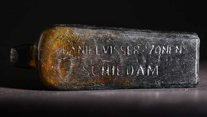 Oldest message in a bottle close up