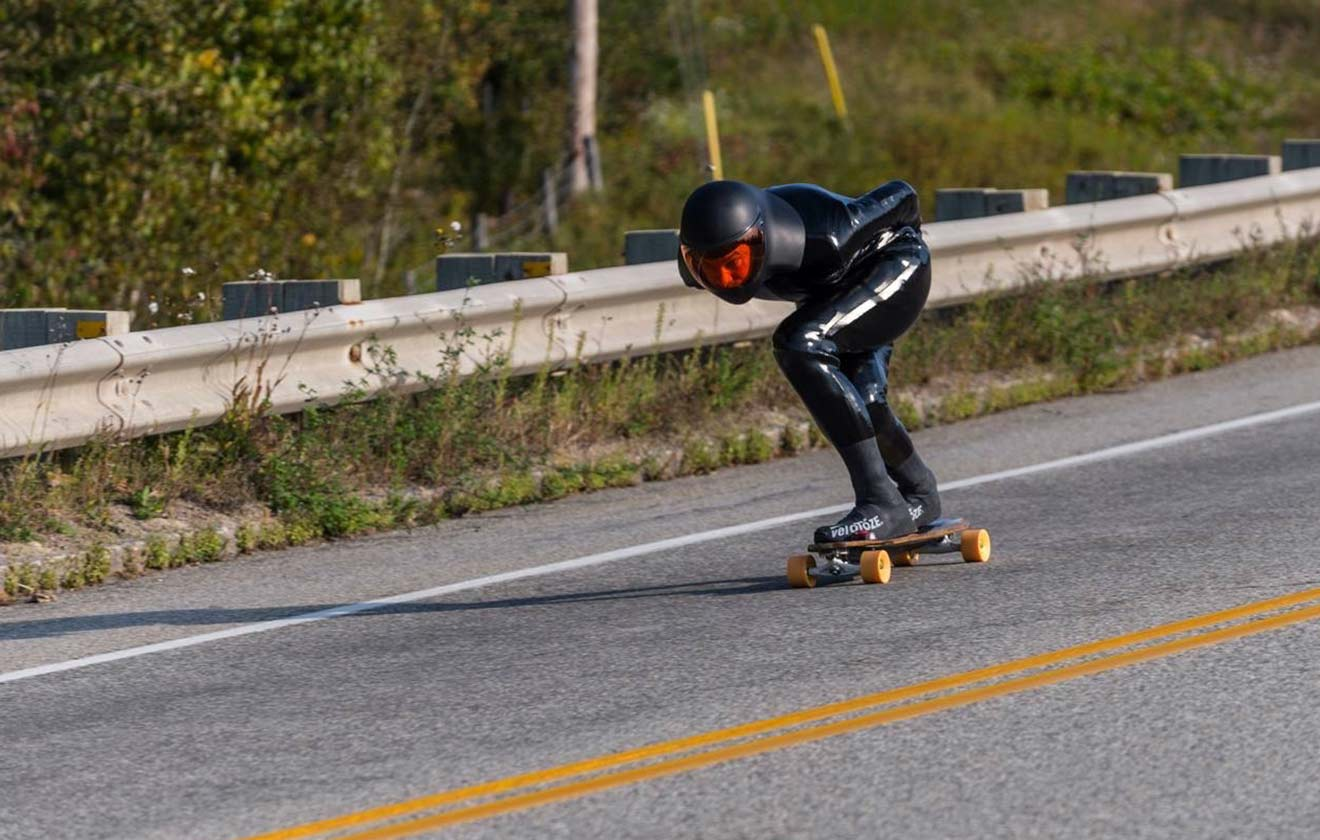 Fastest skateboard speed downhill (standing)