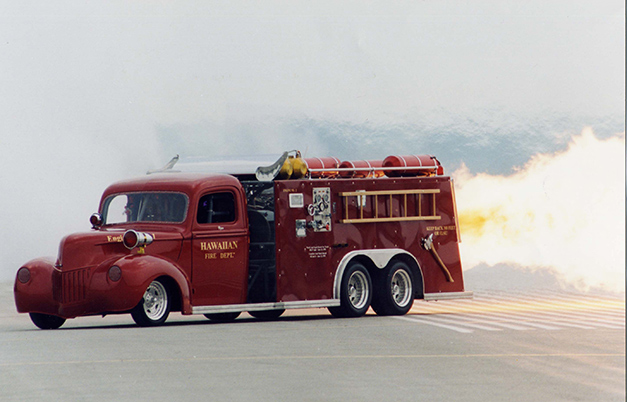 Fastest jet-powered fire truck